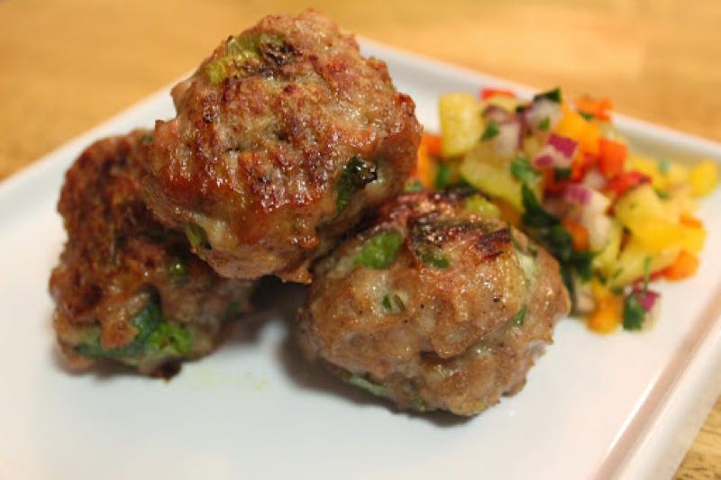 Pickapeppa Gingery Mango Meatballs